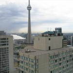 Toronto's CN Tower from atop the Westin Hotel