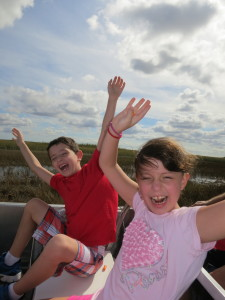 Air boat ride in Everglades
