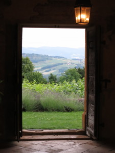 View from doorway Chateau Bagnols