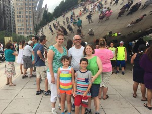 The Bean in Chicago's Millennium Park with Cousin Morgan