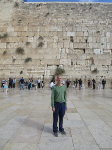 At the Western Wall at my 50th year.