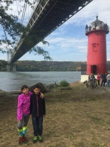 At the Little Red Lighthouse below the George Washington Bridge in NY City.